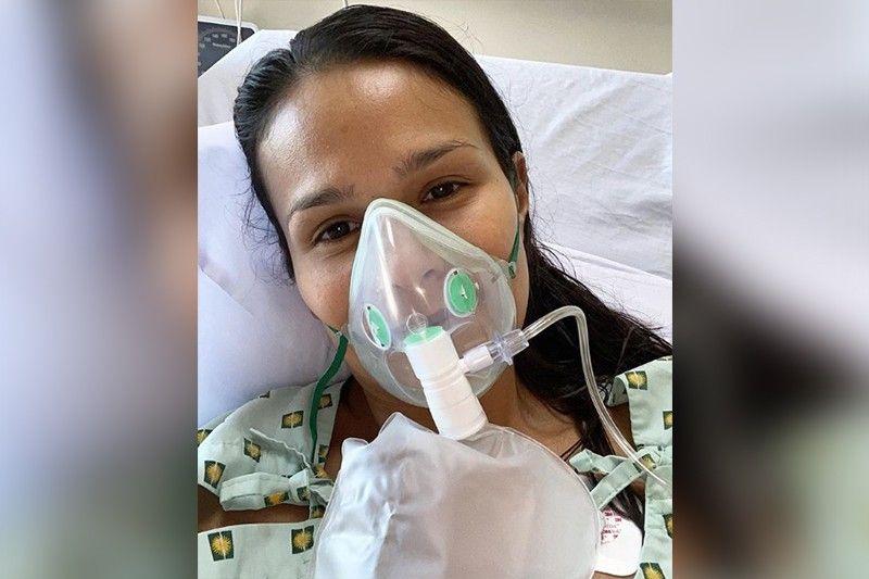Iza Calzado treated for pneumonia, awaiting COVID-19 test results