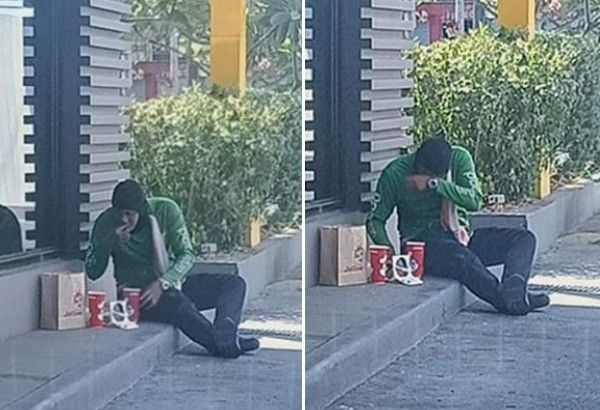 GrabFood explains policy after photos of rider eating canceled order went viral