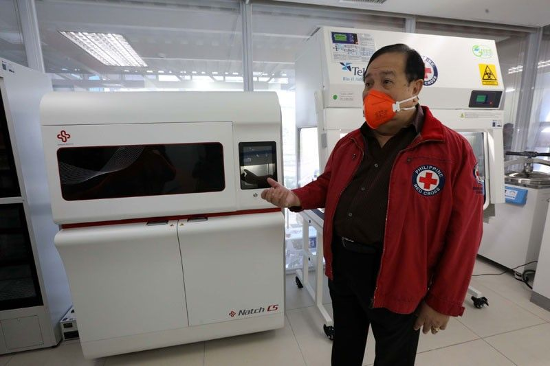 Red Cross opens COVID testing lab in Mandaluyong