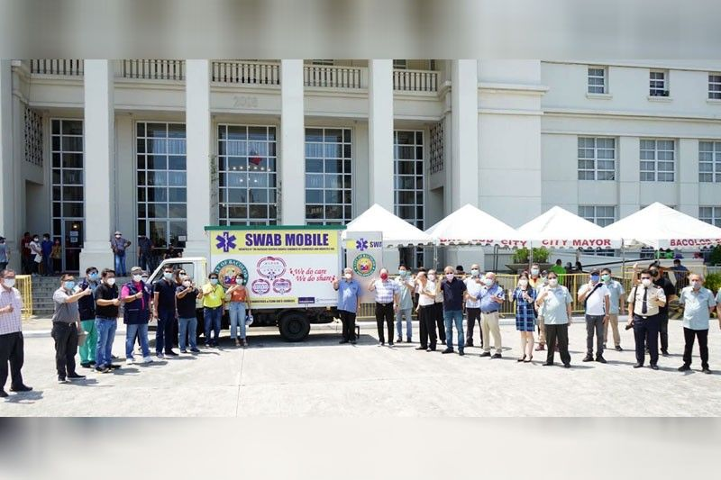 1st COVID swab mobile launched in Bacolod