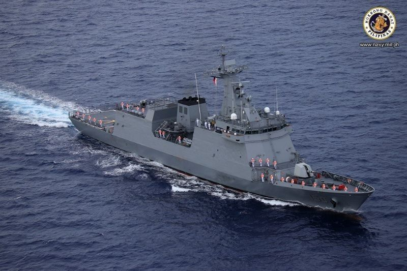 Navy's first missile-capable warship arrives in Philippine waters