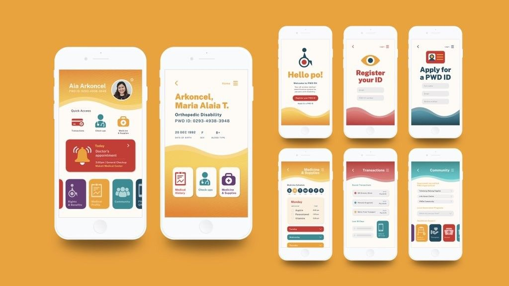 LOOK: Design student crafts mobile app, PWD card system for thesis project