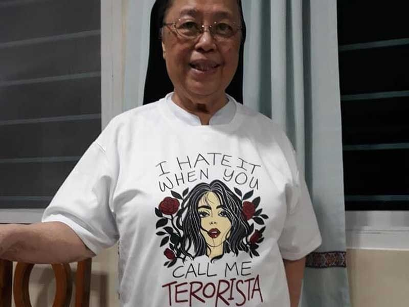 Sister Mary John Mananzan is not 'leader for life' of a 'communist terrorist' group