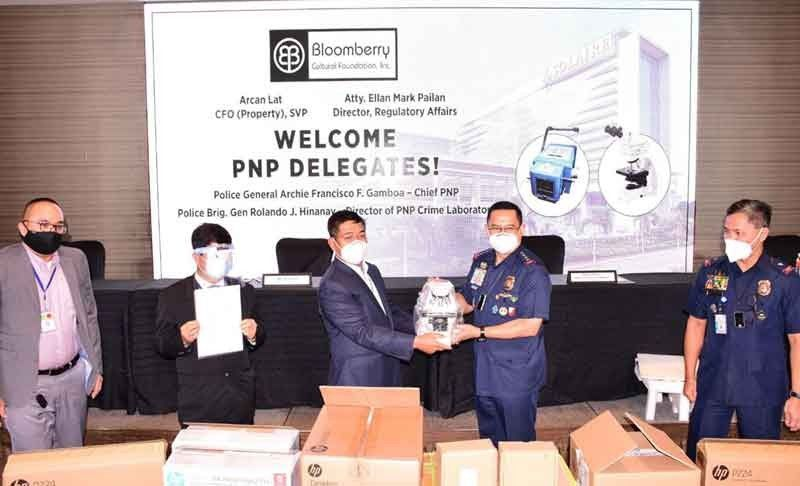 Bloomberry Foundation donates P4.3M worth of crime lab equipment to PNP