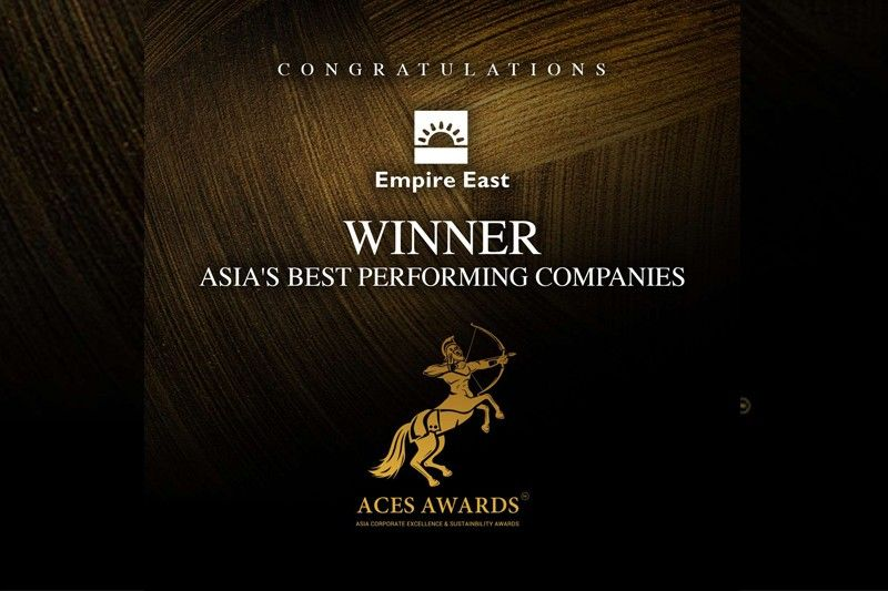 Empire East bags ACES Award as among best performing in Asia