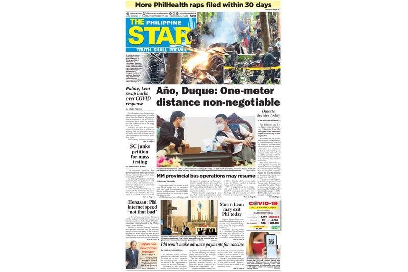 The STAR Cover for (September 17, 2020)