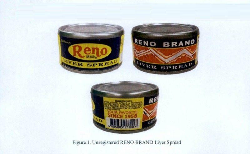 FDA: Reno liver spread, iba pang unregistered products 'huwag kainin'
