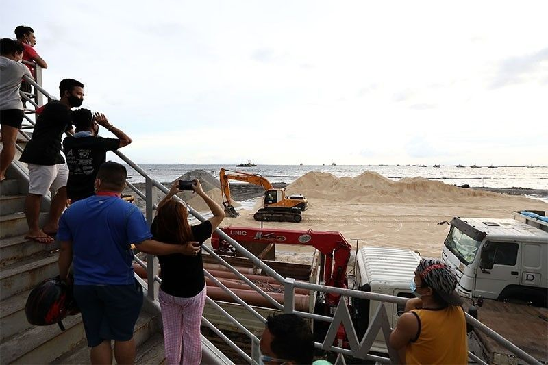 Certificate of non-coverage issued to Manila Bay white sand project, EMB chief says