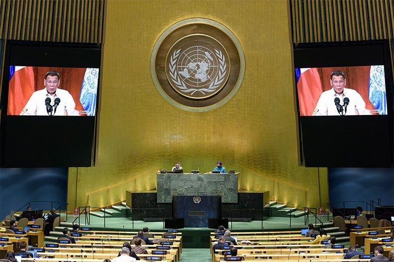 At UN General Assembly: Duterte asserts sea row decision
