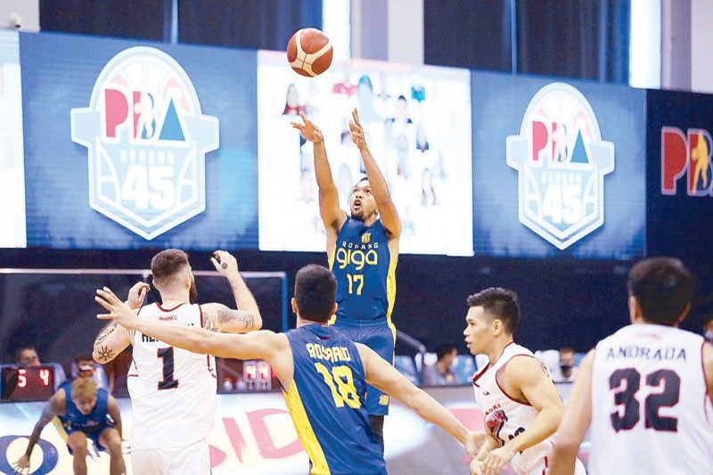 Pogoy sizzles, TNT pulls through