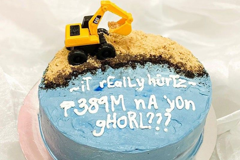 Manila Bay-ke? This 'Dolomite Cake' didn't cost P389M but it sure is priceless