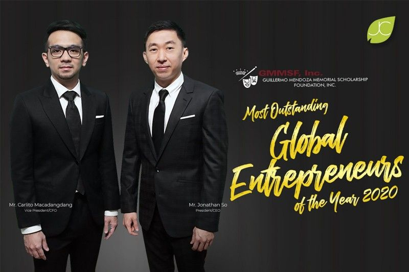 JC's founders Jonathan So and Carlito Macadangdang hailed as the Most Outstanding Global Entrepreneurs