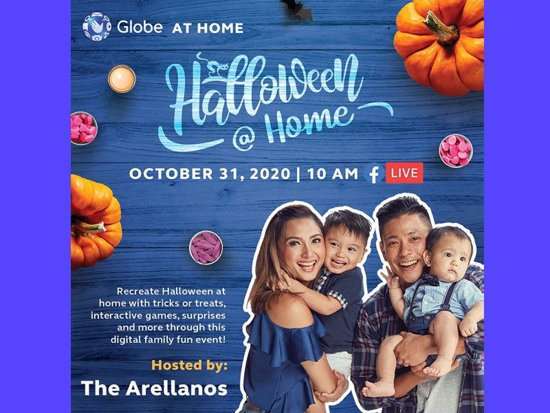 Drew, Iya and kids recreate Halloween chills and thrills with Globe At Home