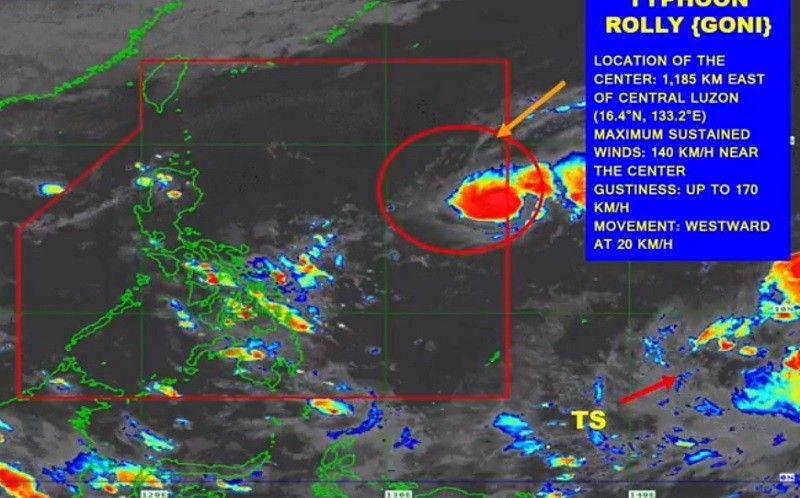 PAGASA: Signal No. 4 posible sa Southern Luzon dahil sa Typhoon Rolly
