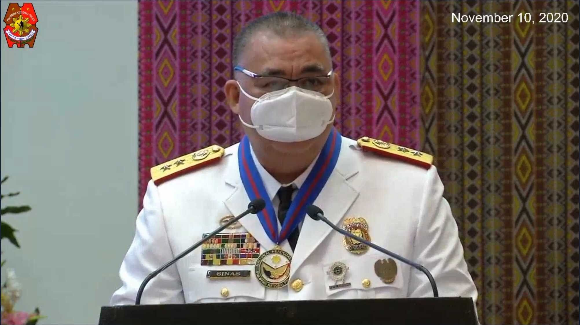 Sinas told to uphold justice as new top cop vows to continue drug war