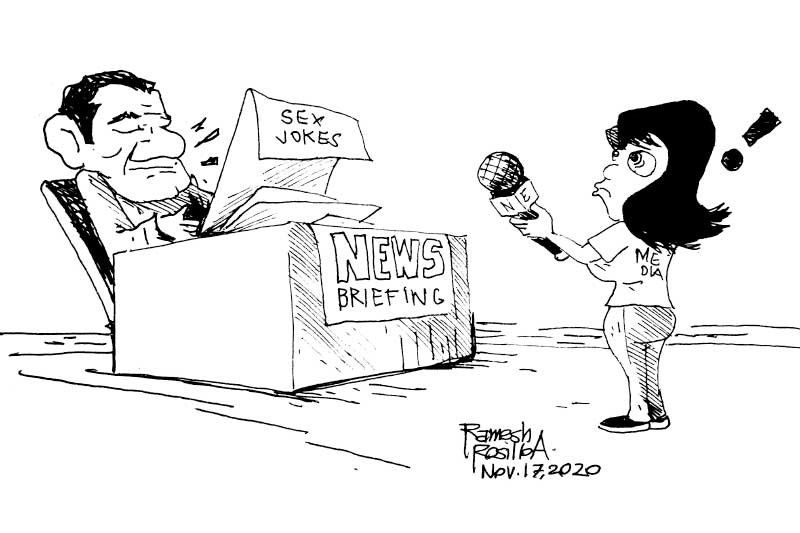 EDITORIAL - Inappropriate humor