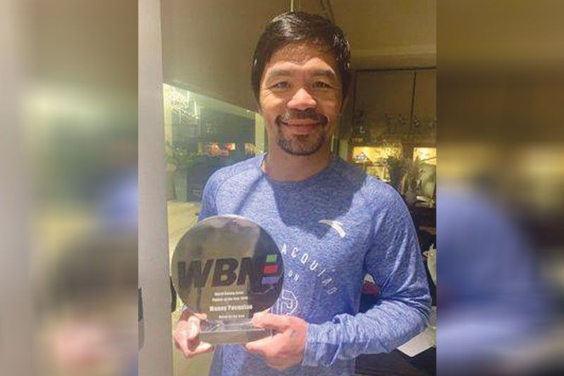 WBN Fighter of the Year trophy nakuha na ni Pacquiao