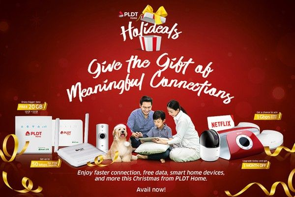 PLDT Home gives subscribers the gift of meaningful connections with Holideals
