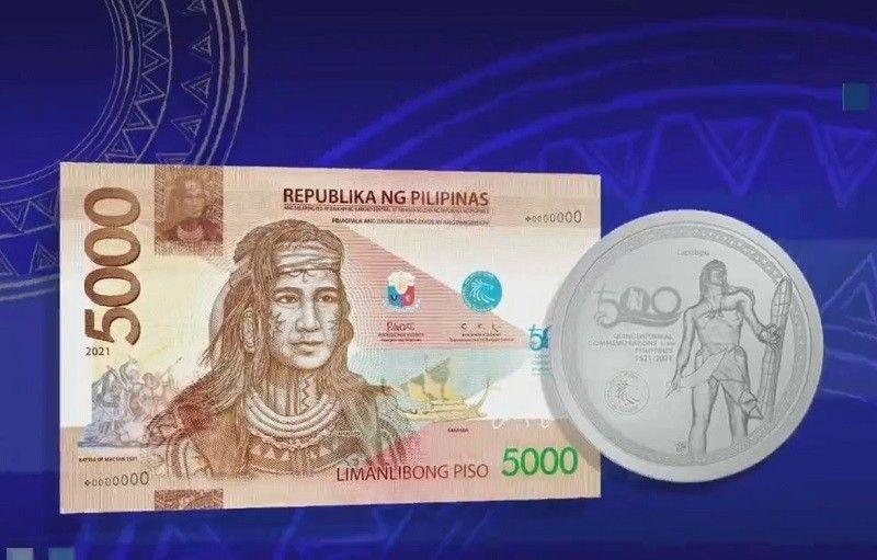 Lapu-Lapu bida sa bagong P5,000 commemorative bill ng BSP