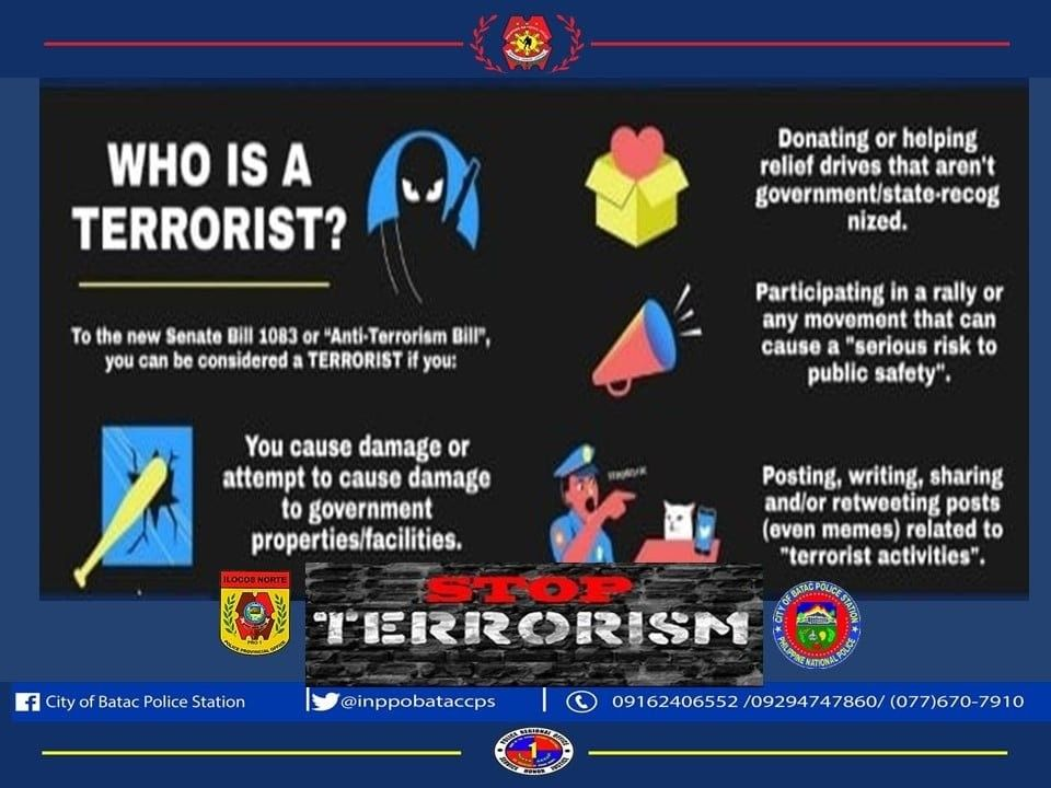 Local police station tags relief drives, rallying, sharing memes as 'terrorism'