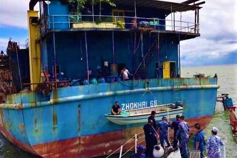 Illegal Chinese dredging vessel spotted in Bataan