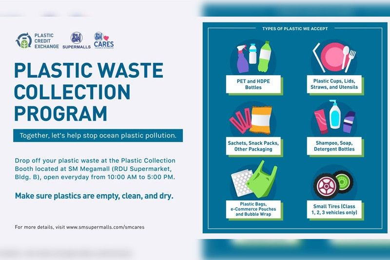 You can now dispose cleaned and dry plastic wastes at SM Megamall � Here's how