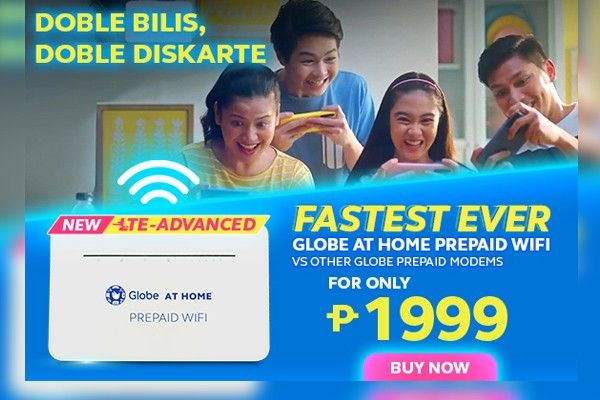 �Doble Diskarte� with the fastest home prepaid WiFi from Globe At Home