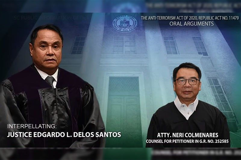 Colmenares tells SC: Authorities 'not helpless' against terrorists without anti-terrorism law