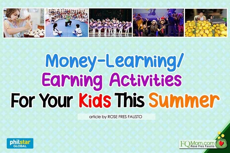 Money-learning, earning activities for your kids this summer