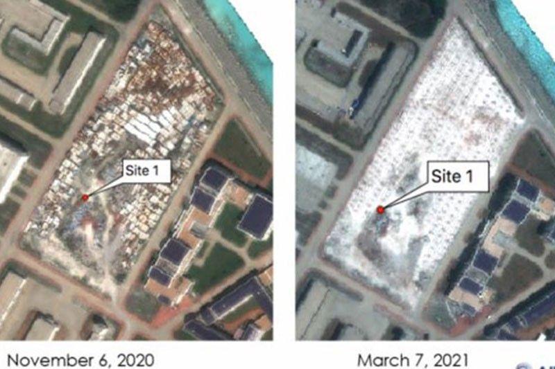 Satellite photos show China's construction on Subi Reef while ships swarm Julian Felipe Reef