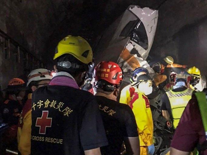 At least 41 dead as Taiwan train derails in tunnel