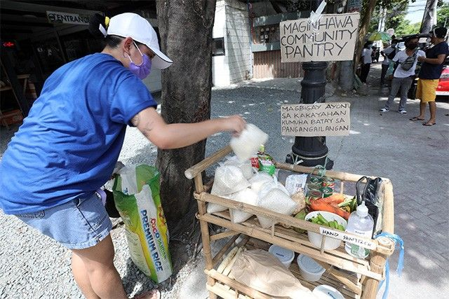 Community pantries pop up as people wait for government aid