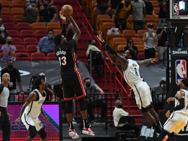 Adebayo's step-back jumper at buzzer propels Heat to win over Nets
