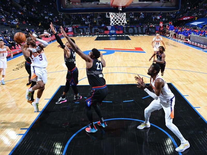 Suns escape with win after Embiid's Hail Mary toss rattles in and out