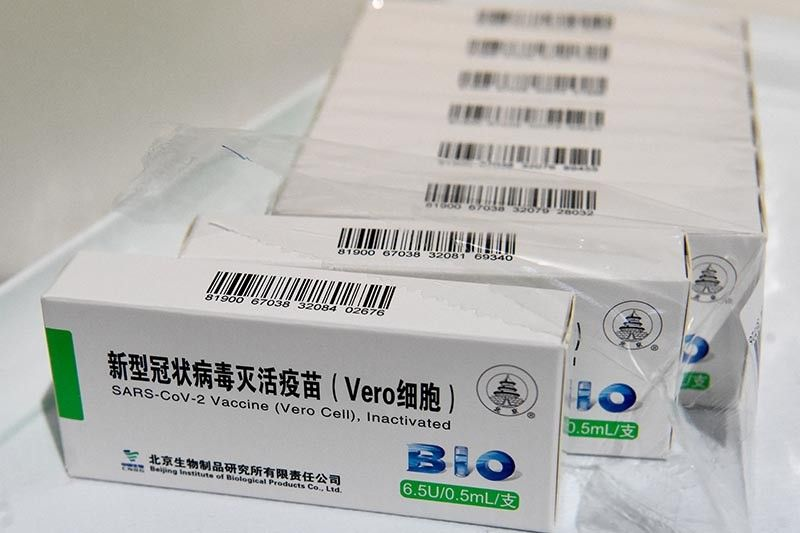 Sinopharm EUA only covers batch donated by China, Palace says