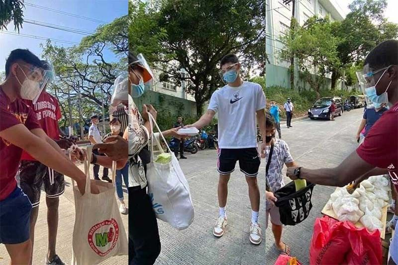 UP newcomers Cansino, Lina, Diouf help out at Diliman community pantry