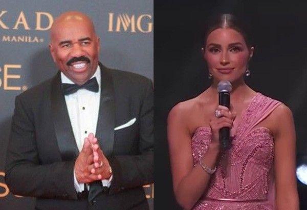 Olivia Culpo, Steve Harvey go viral for Miss Universe hosting skills