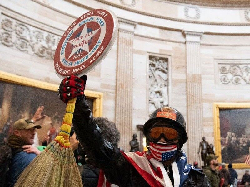 Walis tambo-wielding man arrested over involvement in US Capitol riot