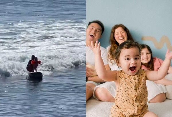 Natural born surfer: Andi Eigenmann's 1-year-old kid wows with water sport skills