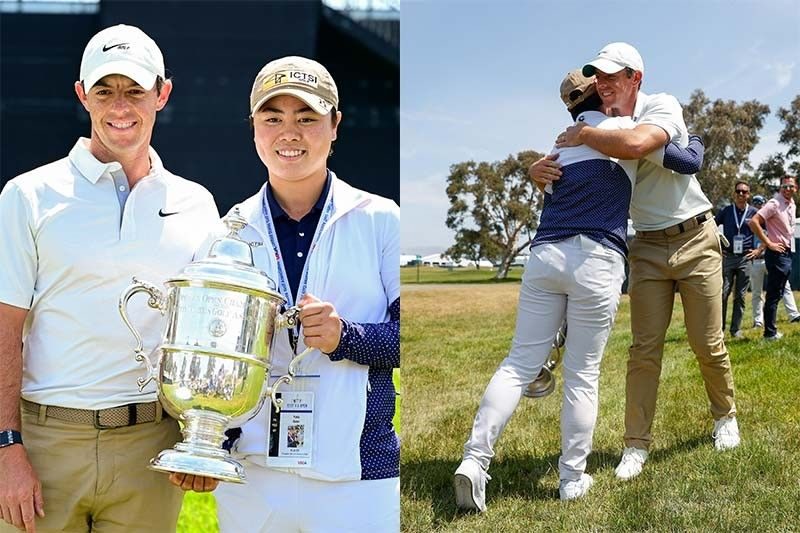 Yuka Saso practices with �idol� and fellow US Open champ Rory McIlroy