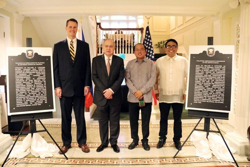 Historical site markers at Philippines envoy�s residence unveiled