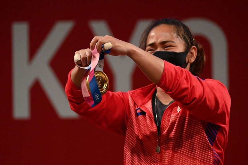 Palace congratulates Hidilyn Diaz after winning first ever Olympic gold for Philippines