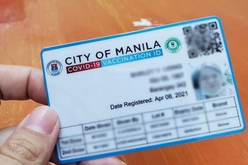 DILG exec proposes requiring vaccine cards to be worn like IDs outdoors