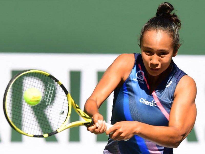 Leylah Fernandez gets boot at Indian Wells