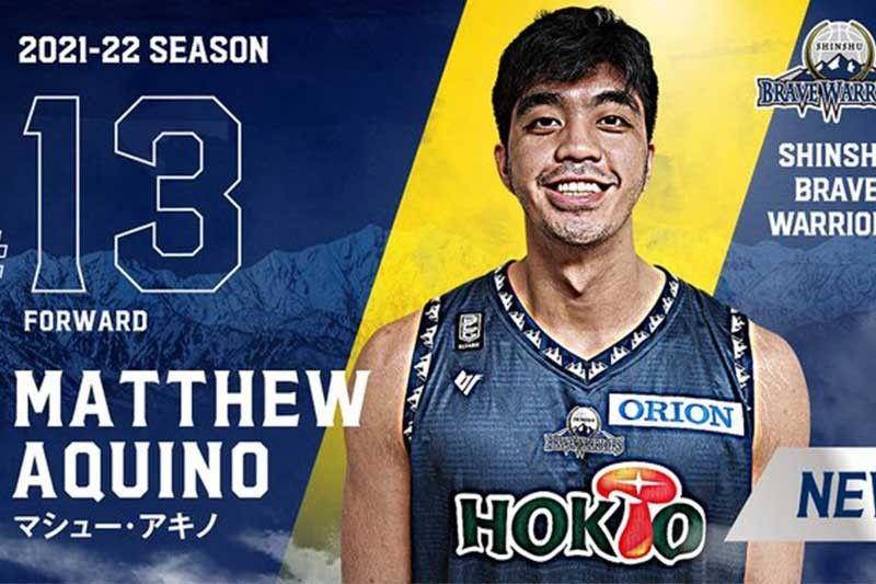 Matt Aquino, hijo de la leyenda de la PBA Marlou, se une a Shinshu Brave Warriors en la Liga B